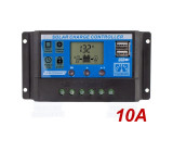 Regulátor nabíjení Použití: sluneční panel 10A 12/24VDC