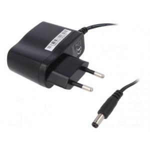 Zdroj: spínaný 12VDC 0,5A Výv:5,5/2,1 6W Vidlice: EU 90÷264VAC