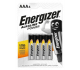 Alkalická baterie AAA LR03 energizer blistr 4ks