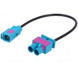 Antenna adapter Fakra Fakra socket, Fakra double zástrčka 0.19m