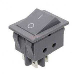 Kolébkový vypínač ON-OFF 2 polohy šedý