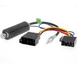 Anténní oddělovač ISO - DIN a napájecí konektor ISO-ISO. Vhodné pro modely Audi 1998, Seat 2002, Skoda 1998, VW golf IV 1999, VW Passat 1999
