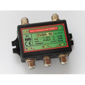 Aktivní rozbočovač pro DVB-T/T2 4x výstup F konektor 20dB
