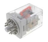 Relé elektromagnetické 3PDT Ucívky:220VDC 10A max250VAC