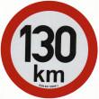 samolepka rychlosti REFLEXNÍ 130 km průměr 20 cm