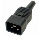 Konektor IEC 60320,napájecí AC C20 (I) zástrčka vidlice 16A