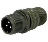 Konektor vojenský Řada DS/MS zástrčka vidlice 3 PIN na kabel