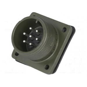 Konektor vojenský Řada DS/MS zásuvka vidlice 7 PIN stříbřený