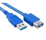 Kabel USB 3.0 USB A zásuvka USB A vidlice niklovaný 1,8m