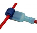Procvakávací svorka s fastonem modrá 1.5-2,5mm