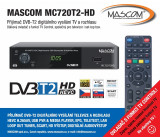 DVB-T2 přijímač MASCOM MC720T2 HD