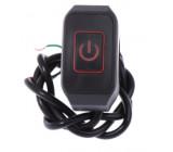 Vypínač na řídítka motorky a čtyřkolky podsvětlený červený 12V 5A