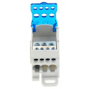 Distribuční blok AC / DC 3x16mm a 4x6mm modrý