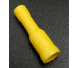 Kabelová dutinka 4mm kulatá samice pro kabel 1,5mm2 žlutá