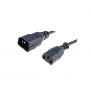 Kabel IEC C13 zásuvka, IEC C14 vidlice 0,5m černá PVC 10A