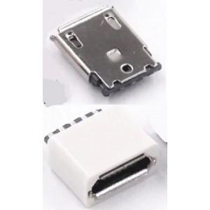 Micro USB konektor samice rozebíratelný pájecí na kabel přímý bílý