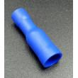 Kabelová dutinka 4mm kulatá samice pro kabel 1,5mm2 modrá