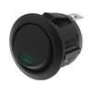 Přepínač SPST 6A/250VAC 20A/12VDC OFF-(ON) černá 50mΩ UL94V-2