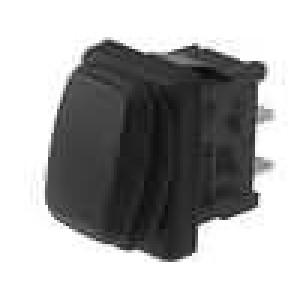 ROCKER 2 polohy SPST 10A/250VAC ON-OFF černá IP65 50mΩ
