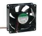 Ventilátor 12VDC 80x80x25mm 56,1m3/h 28dBA kuličkové 1,1W