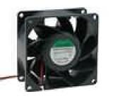 Ventilátor 24VDC 80x80x38mm 143m3/h 55,2dBA kuličkové