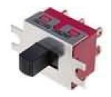 Přepínač posuvný 2 polohy DPDT 2A/250VAC ON-ON Poč.výv:6