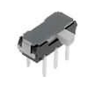Přepínač posuvný 2 polohy DPDT 0,3A/6VDC ON-ON Poč.výv:6 2mm