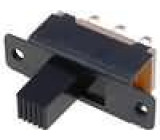 Přepínač posuvný 2 polohy DPDT 0,5ADC ON-ON Poč.výv:6 5mm