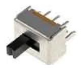 Přepínač posuvný 2 polohy DPDT 0,3A/30VDC ON-ON 50mΩ