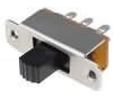 Přepínač posuvný 2 polohy DPDT 0,5A/250VAC ON-ON Poč.výv:6