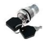 Přepínač odolný vandalům s aretací SPDT 5A/250VAC IP40 ON-ON