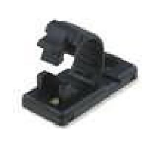 Samolepící držák na přišroubování 7,5mm polyamid černá