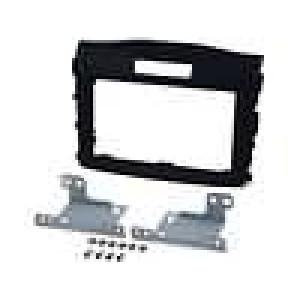 Rámeček pro autorádio 2 DIN Honda CR-V 2012->  černý/rubber-touch