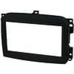 Rámeček pro autorádio 2 DIN Fiat 500L 2012-> černá
