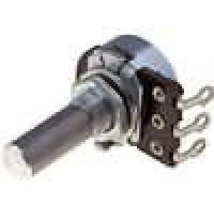 Potenciometr axiální, jednootáčkový 470kΩ 100mW ±30% 6mm očka