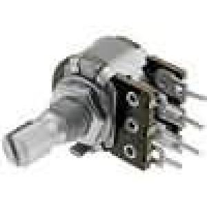 Potenciometr axiální, jednootáčkový 10kΩ 100mW ±20% 6mm