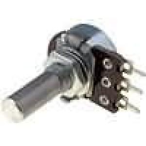 Potenciometr axiální, jednootáčkový 220kΩ 100mW ±20% 6mm
