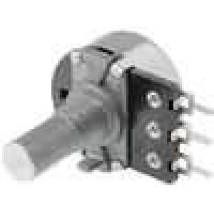 Potenciometr axiální, jednootáčkový 22kΩ 200mW ±20% THT 6mm