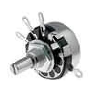 Potenciometr axiální, jednootáčkový 33kΩ 2W ±20% pájení 6mm