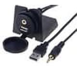 Prodlužovací kabel USB A zásuvka Jack 3,5 mm 4pin zásuvka 2m