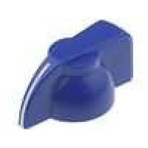 Knoflík s ukazatelem pro hřídel 6mm Ø19,5x14mm modrá