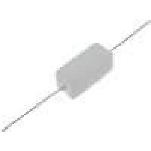 Rezistor drátový tmelený THT 47R 5W ±5% 9,5x9,5x22mm