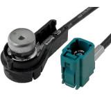 Anténní adaptér ISO - Fakra pro navigaci MFD2 a RNS2 VW Caddy, VW Golf V, VW Passat, VW Touareg, VW Touran, VW Transporter T5