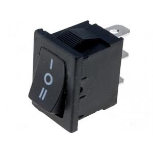 Kolébkový přepínač miniatur.3 polohy ON-OFF-ON