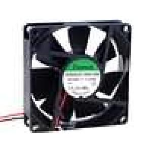 Ventilátor 24VDC 80x80x20mm 61,16m3/h 38dBA kluzné 1,54W