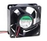 Ventilátor 24VDC 60x60x25mm 61,16m3/h 44dBA kuličkové