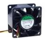 Ventilátor 24VDC 60x60x38mm 96m3/h 56dBA kuličkové 10,3W