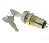 Přepínač spínač se zámkem stabilní 2 polohy 90° průměr 19mm