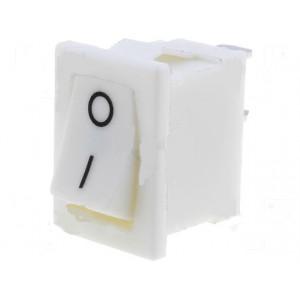 Kolébkový spínač miniaturní 1x spín. ON-OFF 6A bílý