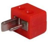Zástrčka reproduktorová kabelová 90° šroubovací červená